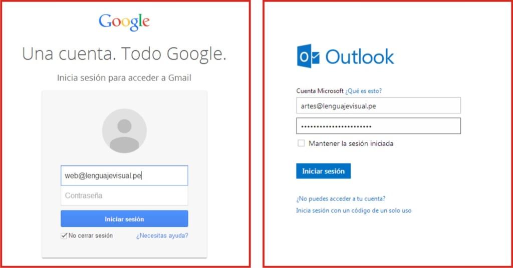 gmail y hotmail-lenguaje-visual